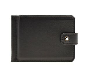 Montblanc Heritage Money Clip Wallet Brown Vintage Leather New