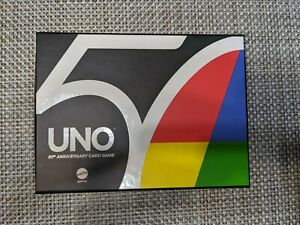 UNO 50th Anniversary Edition Card game Exclusive Gold Coin Mattel FREE PRIORITY
