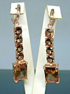Turkish Handmade Jewelry 925 Sterling Silver Alexandrite Stone Women Earrings
