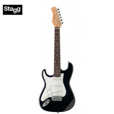 NEW Stagg S300 3/4 Size Left Hand Standard Classic ST Electric Guitar - Black