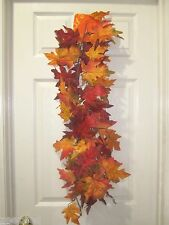 Fall Thanksgiving Maple Leaf Garland Decoration Decor 6FT