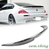 Carbon 6 Series Fit FOR BMW E63 Facelift Coupe 2DR V Look Trunk Boot Spoiler 10