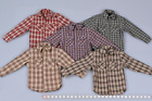 """1/6 Scale Unisex Soldiers Clothes Casual Plaid Shirt Blouse 5 Colors F 12"""" Body"""