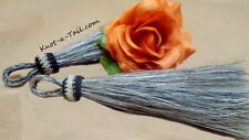 Real Horse Hair Tassels Perfect for Tack  5 1/2 inches  Stunning Gray horsehair