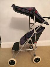 Vintage Dolls Silver Cross Pushchair Pram Buggy with detachable Canopy foldable