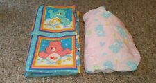 Care Bears Baby Toddler Size Fitted Sheet and Handmade Blanket