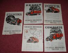 4 different 1927-1928 Graham Truck Ads