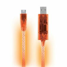 Orange LED Light Micro USB Charger Data Sync Cable for Samsung Galaxy HTC Phone