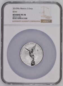 2019 Mexico 2 oz Reverse Proof Silver Libertad NGC PR70 Low Mintage of 1,000