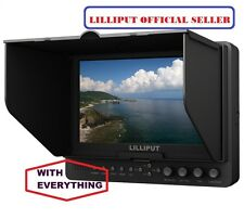 "Lilliput 7"" 665 1024x600  On Camera Monitor+LP-E6 Battery HDMI input + BNC video"