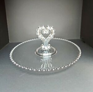 """Imperial USA Candlewick Heart Handle 11-1/2"""" Plate / Server"""
