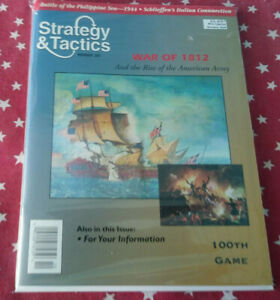 Strategy & Tactics Magazine Decision Games Unpunched #207 War of 1812