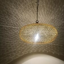 Moroccan Pendant Light Hanging Lamp Lampshades Lighting Brass Finish Color Gold