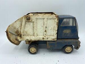 Vintage Tonka Garbage Refuse Sanitation Truck Blue White Vehicle