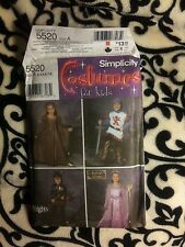 Simplicity pattern Andrea Schewe 5520 A 3-8 boys & girls royal court