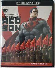 DC SUPERMAN: RED SON 4K ULTRA HD BLU RAY 2 DISC SET FREE WORLDWIDE SHIPPING