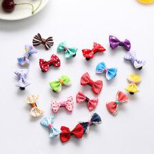 20X Poliéster Resin colores mixtos pelo bebé clips bowknot cinta pelo accesorios