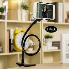2 New Cell Phone Clip Holder Goose Neck Universal Lazy Bracket Flexible Long Arm