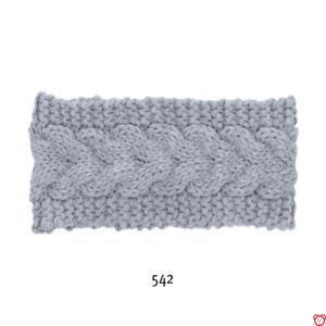 Sterntaler Stirnband Strick Zopfmuster 4852100 silber melange NEU