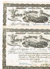 Set 2 Valley Railway Company, 1880s, VF-VF minus