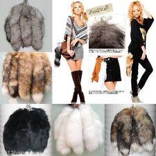 Real Genuine Fur Tassel Bag Tag Accessory keyring Charm Silver Fox Tail 3 Colors