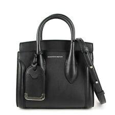 $1990 Alexander McQueen Black Leather Mini Heroine 21 Bag 479878 DX50Y 1000