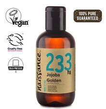 Naissance Jojobaöl Gold - 100ml - 100% rein kaltgepresst vegan für Haut Haare