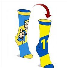 Fallout 4 111 Vault Boy Bethesda Costume Cosplay Reversible Jrs Crew Socks BLUE