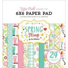 Scrapbooking Crafts Ep 6X6 Paper Pad Spring Fling Kites Tulips Rain Boots Flower