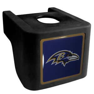 """NFL Hitch Rubber Square 2.5"""" Ball Cover Eagles, Giants, Ravens or Patriots Logo"""