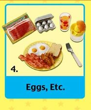 Re-Ment Fun Meals #4, Eggs Bacon Juice, 1:6 Barbie scale kitchen food miniatures