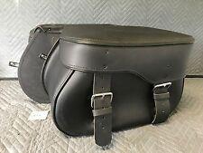 Auburn Leather Rigid Mount Saddlebags For Harley-Davidson Dyna Models