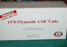 Acme/Danbury Mint 1970 Plymouth Aar Barracuda Cuda 1/18 White