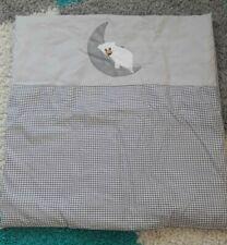 Kinderbettdecke, Babydecke, mit Bezug, kinderwagendecke 79*83cm, Bär mit Mond
