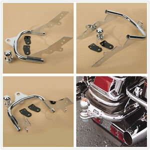 Chrome Trailer Hitch W/ Ball Fit For Harley Touring Electra Glide FLHT FLHR FLTR