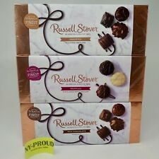 RUSSELL STOVER ASSORTED, TRUFFLES, MILK, DARK CHOCOLATE Gift Box 9.4 OZ Each Box