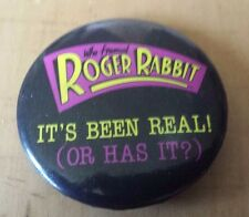"VTG 1987 Disney Who Framed Roger Rabbit Button Pin 1 3/4"" Diameter"