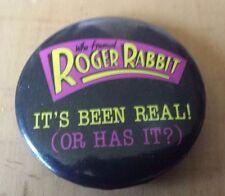 """Vtg 1987 Disney Who Framed Roger Rabbit Button Pin 1 3/4"""" Diameter"""