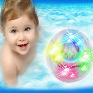 Toy Toddler Durable Water Floating Colorful LED Baby Bath Toys  LED Bathing Toy