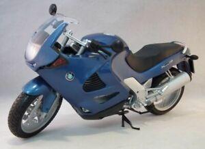 BMW K1200RS model road bike blue body / black seat 1:6th scale MOTOR MAX 76251