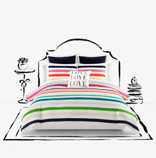 Kate Spade New York Candy Stripe Full/Queen 3pc Comforter Set ~ Multi-Color