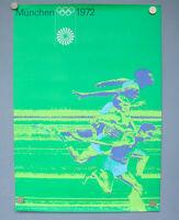 Olympia Poster Sprinter München '72 Otl Aicher Olympische Spiele Plakat Din A1
