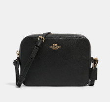 NWT Coach 87734 Mini Camera Bag in Pebble Leather Black $228