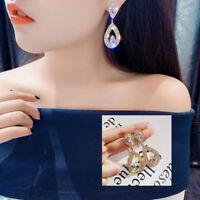 Charm Luxury Water Drop Teardrop Earrings Women Crystal Dangle Earrings Jewelry