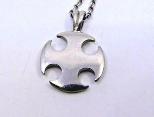 Silver Ingot Millennium Celtic Cross Pendant on Chain / 24g / Hallmarked 999 (2)