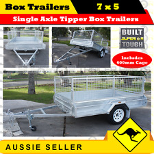 SUPERIOR 7x5 Single Axle Tipper Box Trailers With 600mm Cage / BOXTRAILER