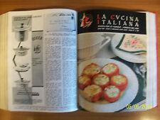 LA CUCINA ITALIANA=ANNATA COMPLETA 1960=12 RIVISTE=VOLUME CARTONATO ORIGINALE !