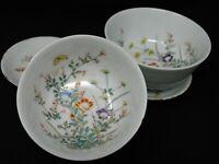 ensemble de bol et sous bol en porcelaine de Chine ,Compagnie des Indes