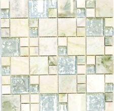 Mosaïque combinaison pierre verre onyx vert clair or bain 88-MC639_f |10 plaques