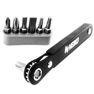 1/4 inch hex Drive Flat mini Ratcheting Screwdriver Bit Set - Phillips Slot Torx